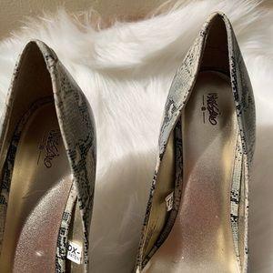 "Mossimo Supply Co. Shoes - Mossimo Size 6.5 Animal Print Pumps Heel 3.75"""
